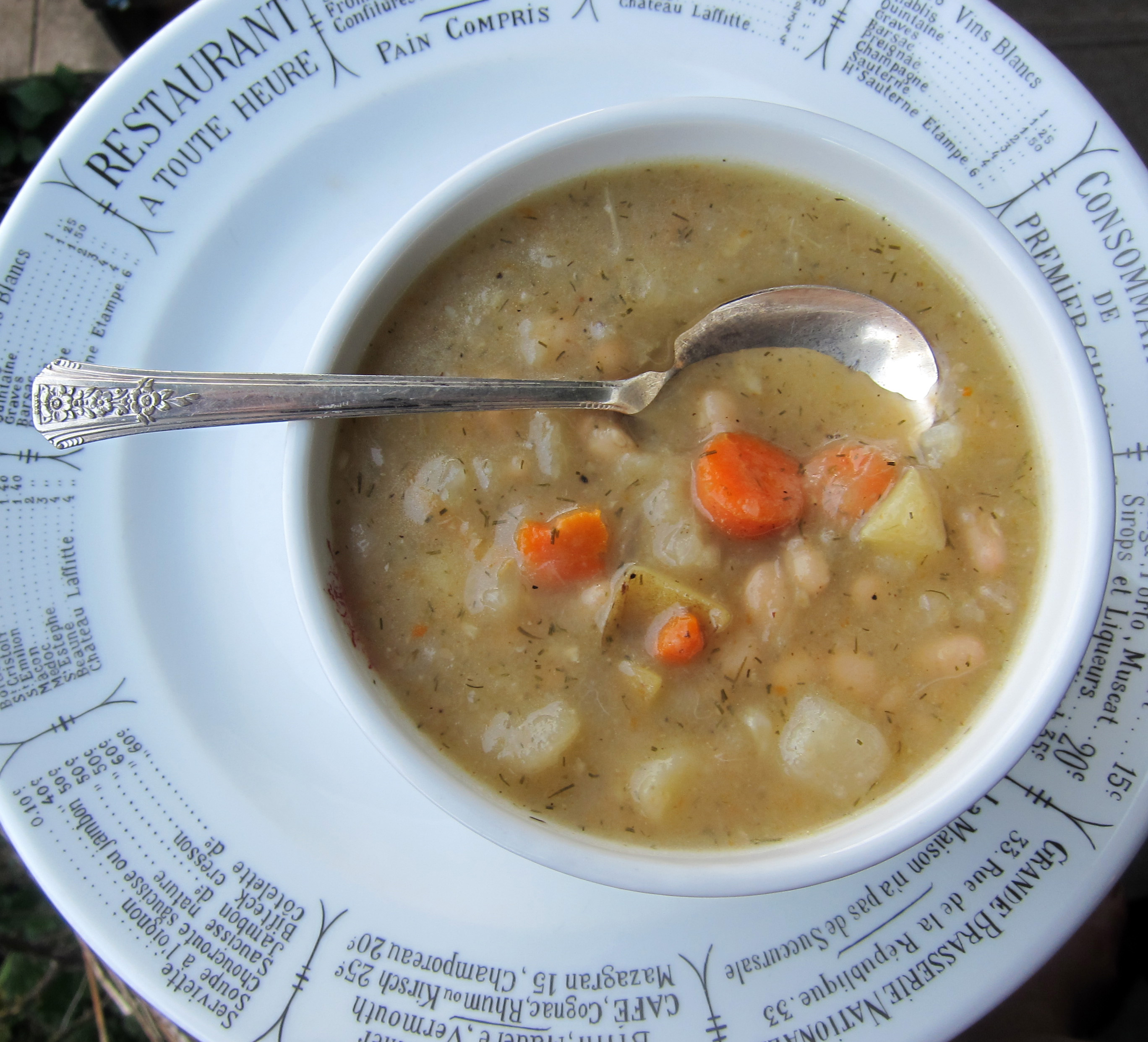 Dill Cabbage With Navy Beans Soup Recipe