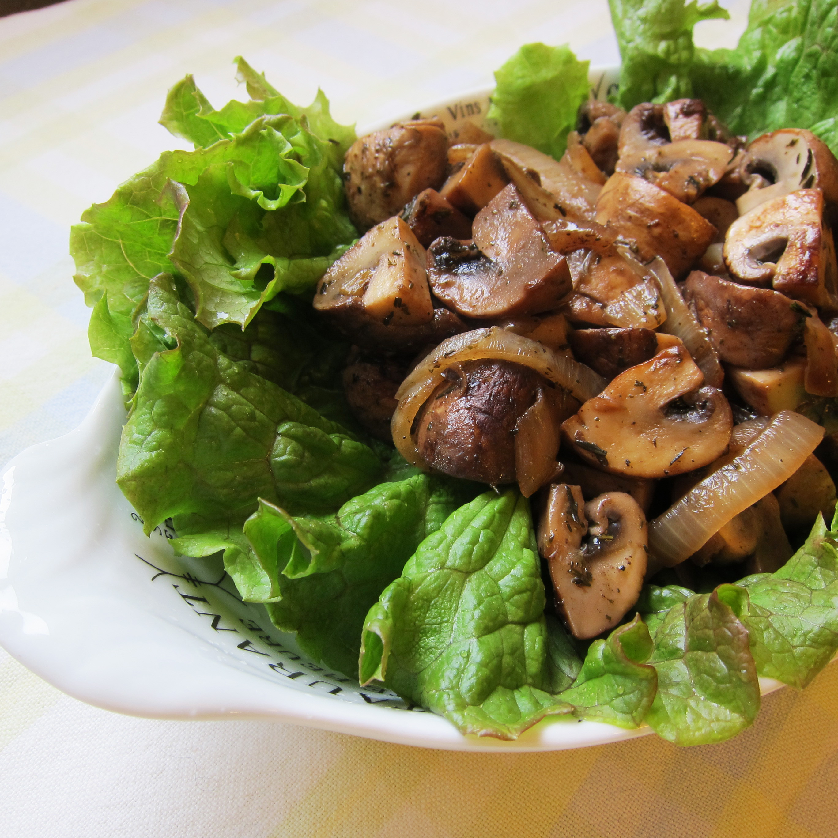 Pan Roasted Mushrooms With Thyme