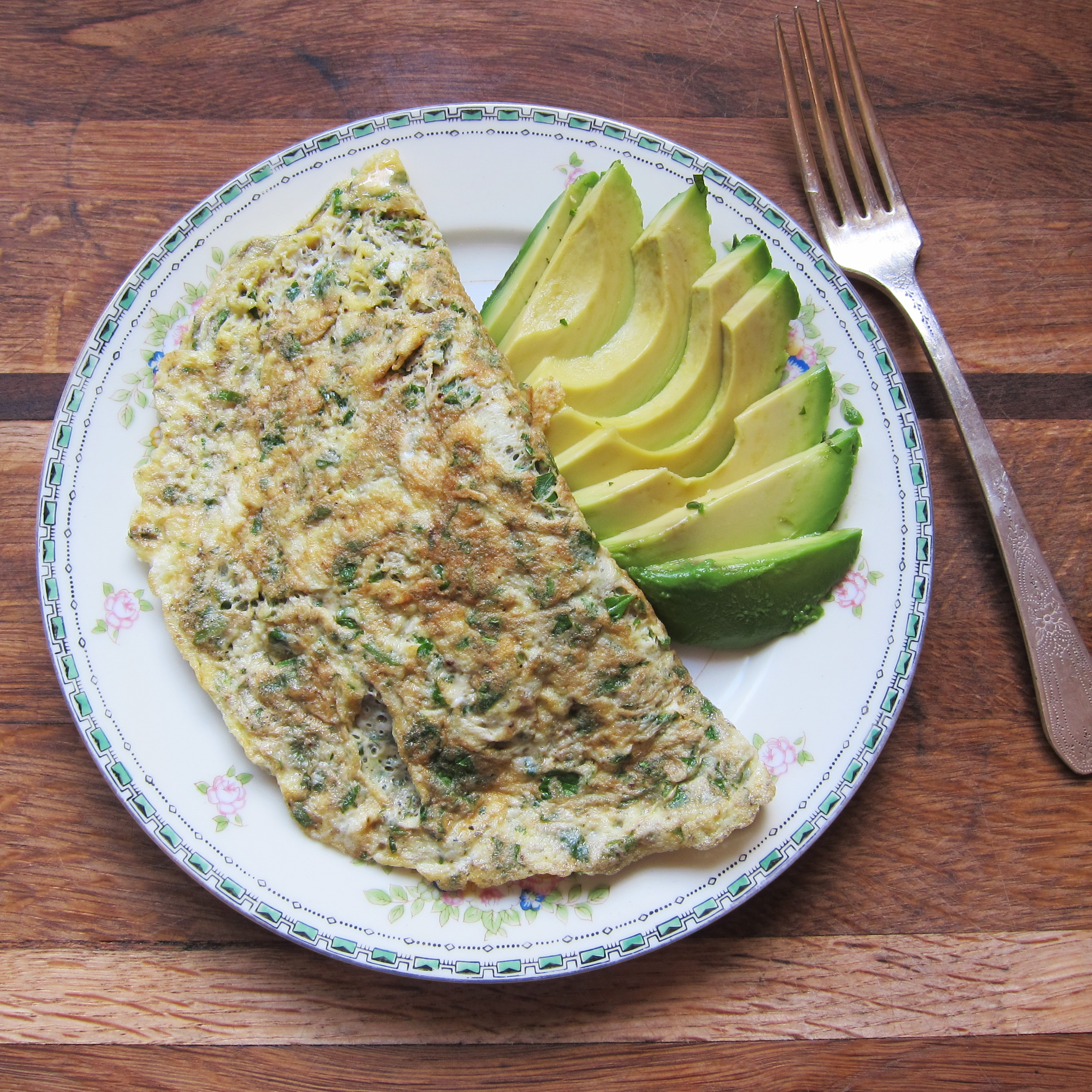 Two Egg Herb Omelet Recipe