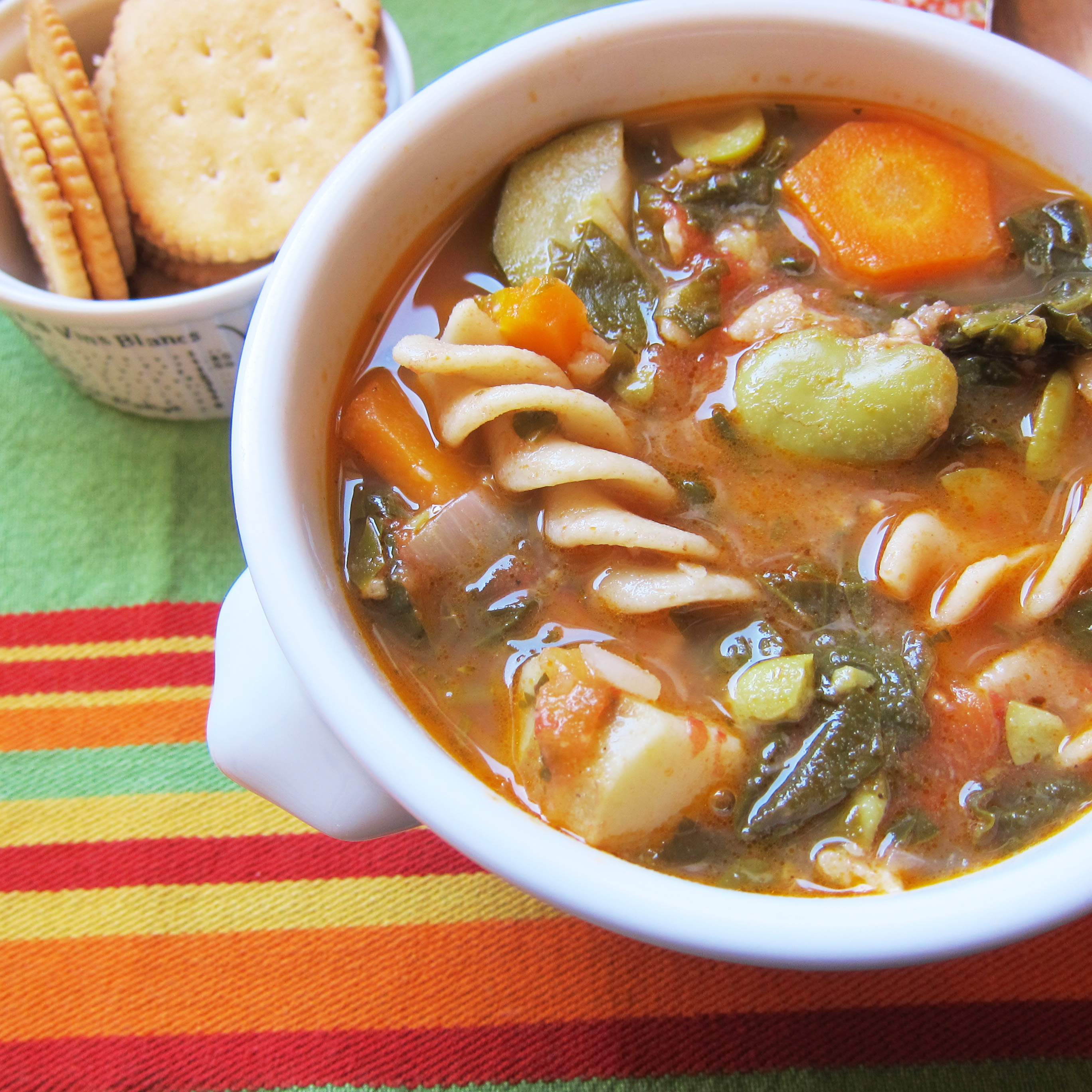 Recipe for Minestrone Soup With Fresh Shelled Fava Beans