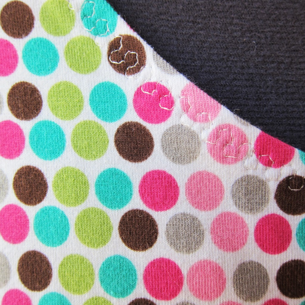 polka dot top stitch detail