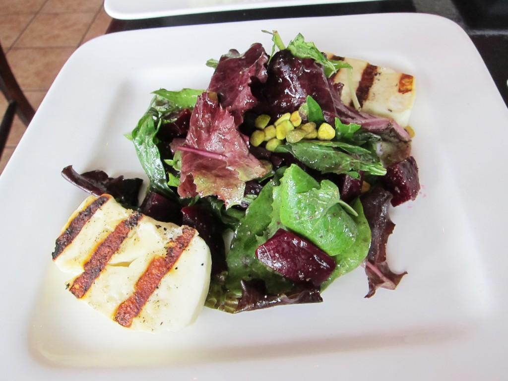 grilled halloumi beet salad