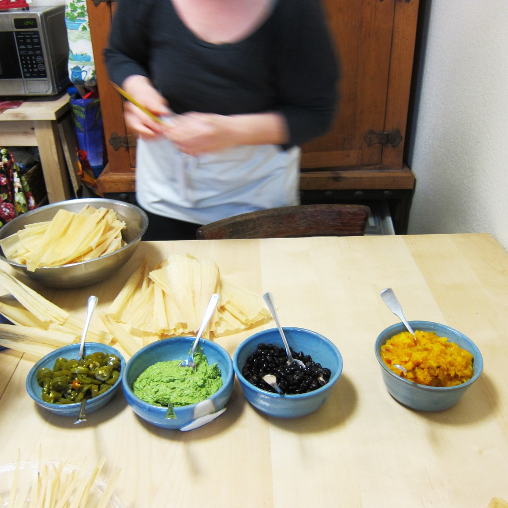 four tamale fillings