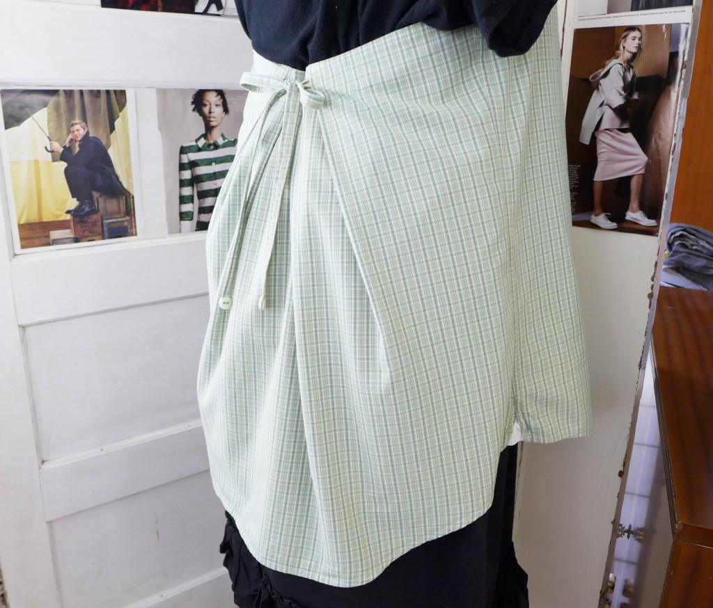 green plaid smock 3