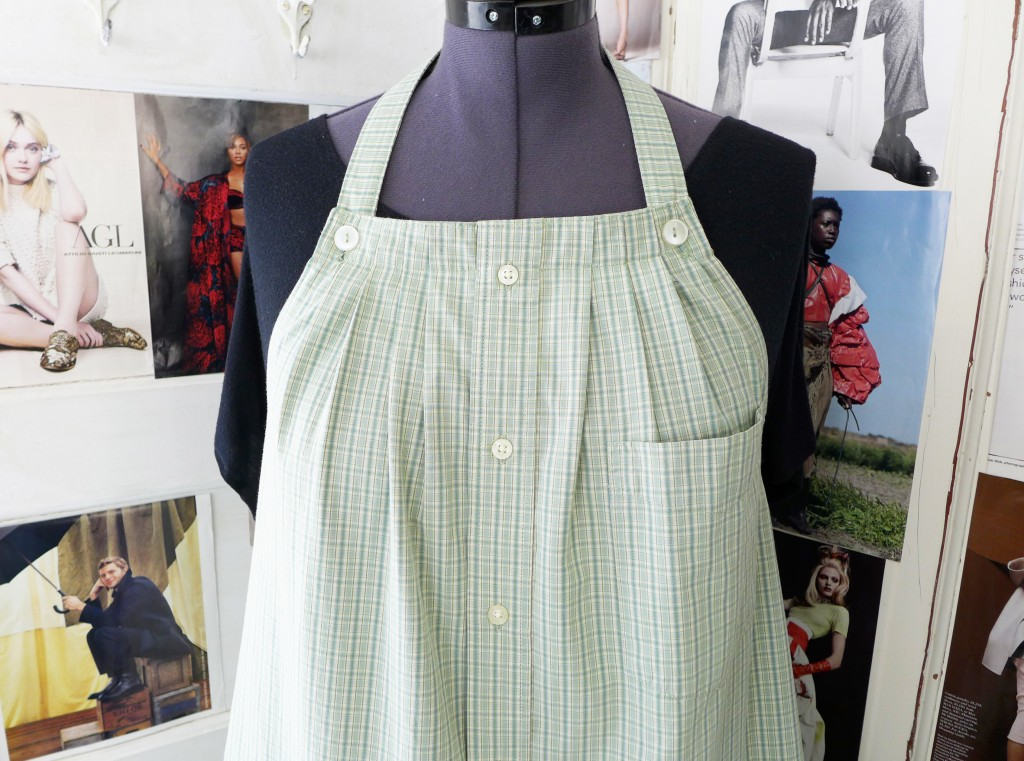 green plaid smock 4