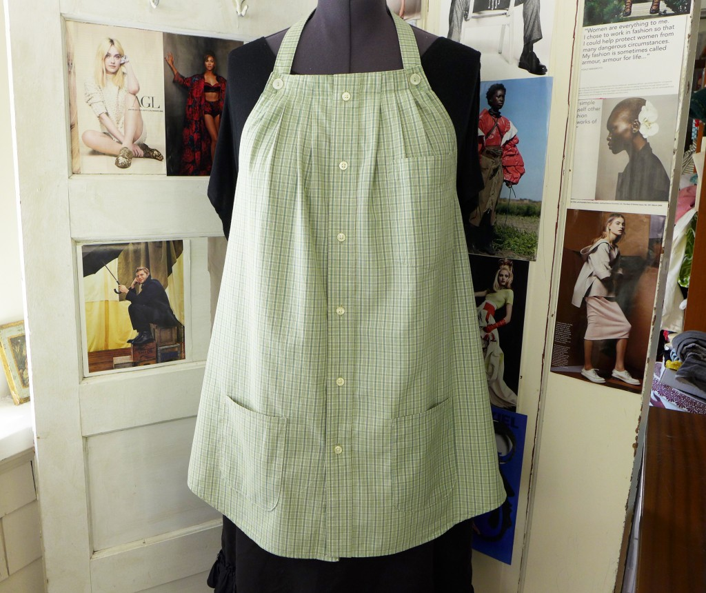 green plaid smock 5
